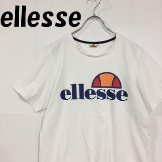 エレッセ(ellesse)の【人気】ellesse エレッセ ビックロゴ Tシャツ ホワイト サイズM(Tシャツ/カットソー(半袖/袖なし))