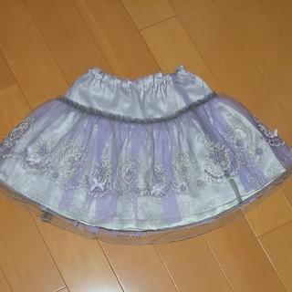 mezzo piano - メゾピアノ 130 刺繍チュールスカート