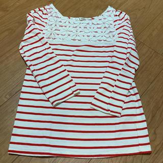 ドットアンドストライプスチャイルドウーマン(Dot&Stripes CHILDWOMAN)のDot and Stripes CHILD WOMAN☆花レース トップス(カットソー(長袖/七分))