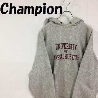 Champion - Champion パーカー トリコタグ ライトグレー L マサチューセッツ大学