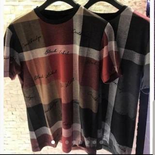 バーバリーブラックレーベル(BURBERRY BLACK LABEL)の限定デザインモデル!ジャガード織り バーバリー ブラックレーベル Tシャツ(Tシャツ/カットソー(半袖/袖なし))