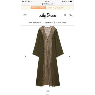 Lily Brown - 刺繍レースレースガウン