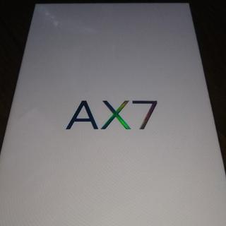 アンドロイド(ANDROID)のお値下げ承ります OPPO AX7  ブルー (スマートフォン本体)