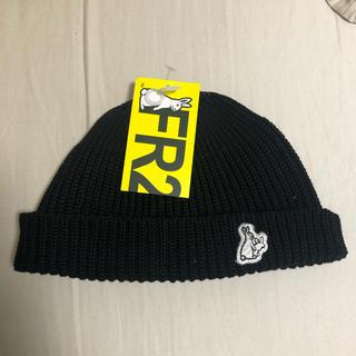 エクストララージ(XLARGE)の新品 FR2 ファッキンラビット ビーニー ブラック ニット帽 黒(ニット帽/ビーニー)