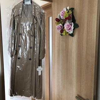 リリーブラウン(Lily Brown)の香里奈さんドラマ着用色違いロングワンピースコート  ピンクベージュ(トレンチコート)