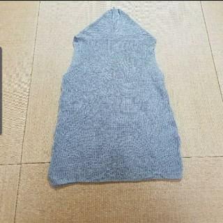 ニコアンド(niko and...)のniko and…綿100%ノースリーブニットグレー(ニット/セーター)