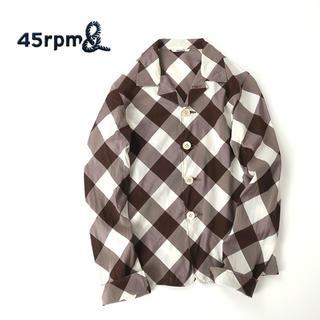 フォーティーファイブアールピーエム(45rpm)の45rpm メガブロックチェック◎オープンカラーシャツ(シャツ/ブラウス(長袖/七分))