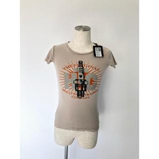 エイチティーシーブラック(HTC BLACK)の【新品】HTC Tシャツ ベージュ xxs タグ付き(Tシャツ/カットソー(半袖/袖なし))