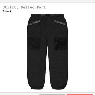 シュプリーム(Supreme)のSupreme Utility Belted Pant 黒 M 定価以下(ワークパンツ/カーゴパンツ)