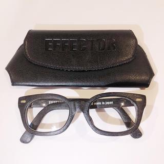 エフェクター(EFFECTOR)のエフェクター 定価3.7万 FUZZ S WOODY メガネ 眼鏡 サングラス(サングラス/メガネ)