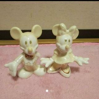 ディズニー(Disney)のミッキー ミニー置物( ᐢ˙꒳˙ᐢ )♡(置物)