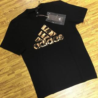 アディダス(adidas)の【新品】アディダス Tシャツ サイズL   ブラック カモ(Tシャツ/カットソー(半袖/袖なし))