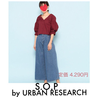 SENSE OF PLACE by URBAN RESEARCH - パフスリーブブラウス S.O.P byアーバンリサーチ 新品タグ付き