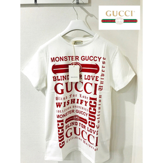 Gucci - 新品希少★グッチ バイカラーロゴTシャツ 赤★レディース 12A★GUCCI