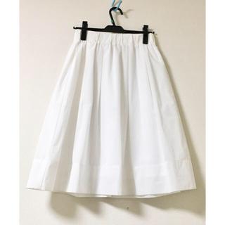 STRAWBERRY-FIELDS - 【新品タグ付き♡ストロベリーフィールズ】ホワイトフレアスカート