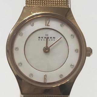 SKAGEN - 20 時計 美品 使用少 艶有 本物 スカーゲン skagen 女性 お洒落