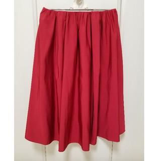 アベニールエトワール(Aveniretoile)のAveniretoile 未使用品 赤スカート サイズ36(ひざ丈スカート)