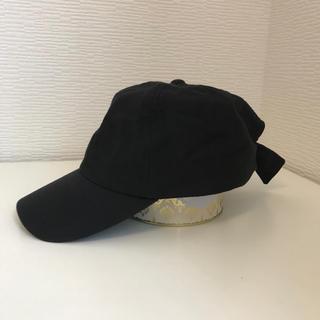 エニィスィス(anySiS)のany SiS キャップ ツバ付き帽子 黒(キャスケット)