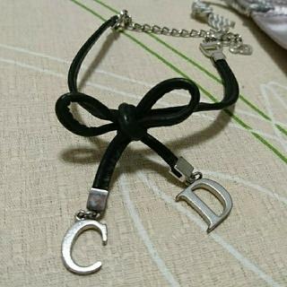 クリスチャンディオール(Christian Dior)のDior ブレス 黒リボン(ブレスレット)