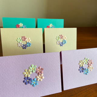 花冠のミニメッセージカード(カード/レター/ラッピング)