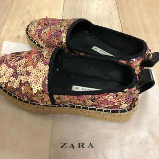 ZARA - ZARA スパンコールシューズ 36