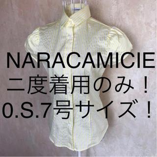 ナラカミーチェ(NARACAMICIE)の☆NARACAMICIE/ナラカミーチェ☆小さいサイズ!半袖ストライプブラウス0(シャツ/ブラウス(半袖/袖なし))
