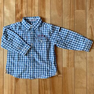 ダブルビー(DOUBLE.B)の美品❗ミキハウス ダブルB チェック長袖シャツ 90cm(ブラウス)