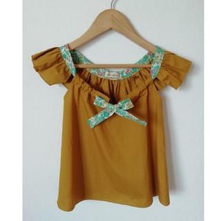 アンバー(Amber)の韓国子供服 トップス からし色(Tシャツ/カットソー)
