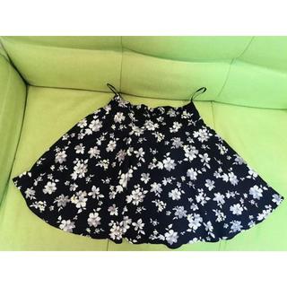 花柄スカート(ひざ丈スカート)