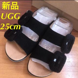 UGG - 新品★UGG アグ ファーサンダル ムートン  スライド 25