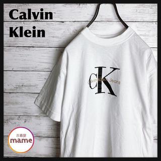 Calvin Klein - 【激レア‼︎】カルバンクライン◎モノトーン ビッグロゴ Tシャツ