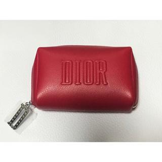 Dior - 【未使用品】Dior ディオール ノベルティ ポーチ red