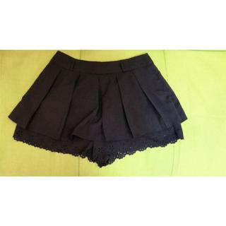 パンツ型 レース付き ミニスカート(ミニスカート)
