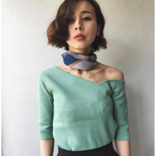 Ameri VINTAGE - 【Ameri 】TRIANGLE ONE SHOULDER KNIT