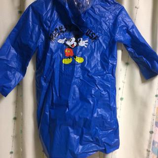 ディズニー(Disney)の120cm ディズニー ミッキーマウス レインコート 青(レインコート)
