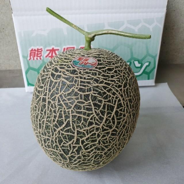 肥後グリーン メロン 二個入り 食品/飲料/酒の食品(フルーツ)の商品写真