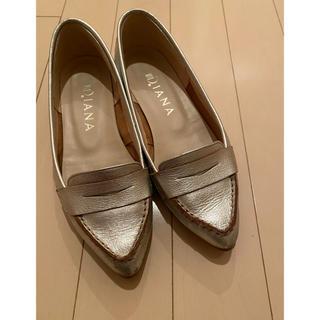 ダイアナ(DIANA)のダイアナ シルバーパンプス(ローファー/革靴)
