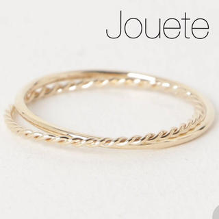 エテ(ete)の◆現行品◆【Jouete】K10YG 二連レイヤーリング(リング(指輪))