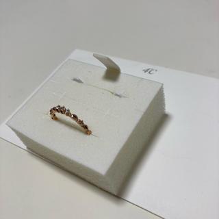 ヨンドシー(4℃)の4℃  K10 ピンクゴールド ピンキーリング ダイヤモンド 1号(リング(指輪))