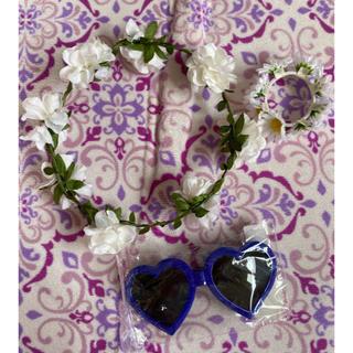 ウィゴー(WEGO)の花冠 ブレスレット ハートサングラス ライブグッズ まとめ売り(カチューシャ)