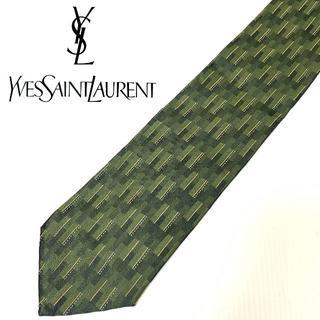 イヴサンローランボーテ(Yves Saint Laurent Beaute)の【YVES SAINT LAURENT】イブサンローラン ネクタイ グリーン(ネクタイ)