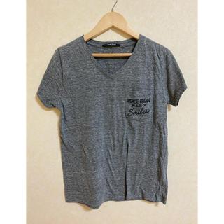 ワンウェイ(one*way)のグレーロゴ付きティシャツ(Tシャツ(半袖/袖なし))