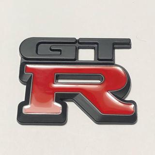 ニッサン(日産)の3Dエンブレム 【GTR】 NISSAN 日産 マットブラック×レッド(車外アクセサリ)