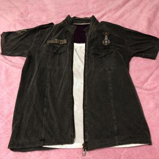 ピーピーエフエム(PPFM)のPPFM☆ロック半袖シャツタンクトップ2枚重ね着3枚セットラージサイズ(シャツ)