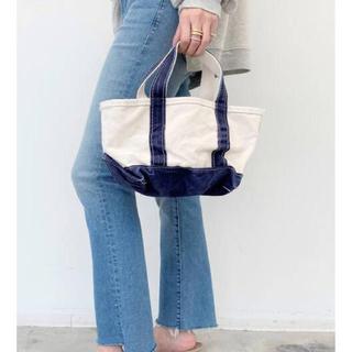 アパルトモンドゥーズィエムクラス(L'Appartement DEUXIEME CLASSE)の新品タグ付★L.L.Bean Canvas tote bag mini ネイビー(トートバッグ)