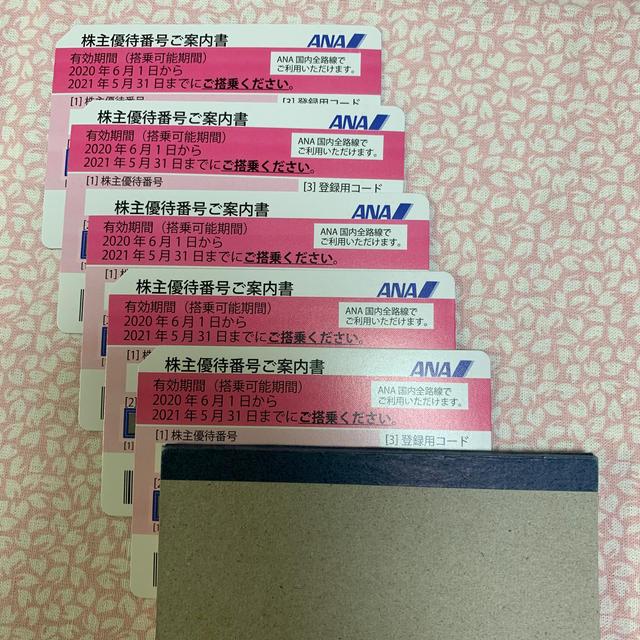 ANA(全日本空輸)(エーエヌエー(ゼンニッポンクウユ))のANA 株主優待券 5枚 チケットの乗車券/交通券(航空券)の商品写真
