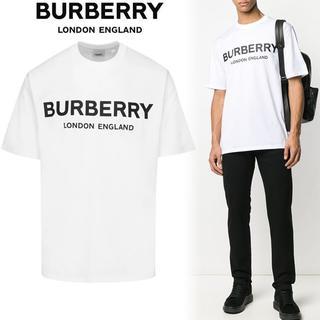 バーバリー(BURBERRY)の1 BURBERRY 20ss ホワイト ロゴプリント Tシャツ size S(Tシャツ/カットソー(半袖/袖なし))