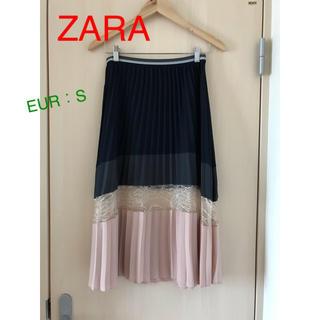 ZARA - ZARA ザラ  プリーツ ロング レース スカート