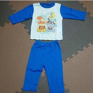 アンパンマン(アンパンマン)の新品 アンパンマン 90サイズ 長袖パジャマ 男の子 ブルー バイキンマン(パジャマ)