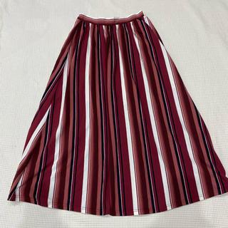 イチナナキュウダブルジー(179/WG)の179/WG NICOLE CLUB ストライプロングスカート サイズF(ロングスカート)